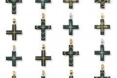 Material: Gold / Silber / Eisen / Diamant / Rubin / grüner Granat.