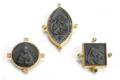 Material: Eisen / Silber / Gold / Diamant / Turmalin.