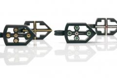 Material: Eisen / Silber / Gold / Diamant / Rubin / grüner Granat.