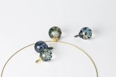 fuming-bowls: Glas/ Gold/ Stahl geschwärzt ca. 23mm Durchmesser