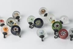 Flower-bowls: Glas/ Stahl geschwärzt ca. 23mm Durchmesser