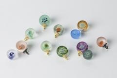 Micro-Flower-bowls: Glas/ Gold/ Silber geschwärzt ca. 12mm Durchmesser